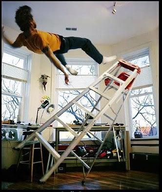 falling off ladder